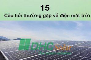 câu hỏi thường gặp về điện mặt trời