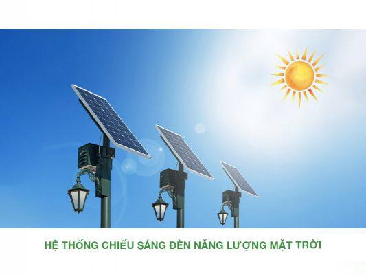 hệ thống chiếu sáng đèn năng lượng mặt trời