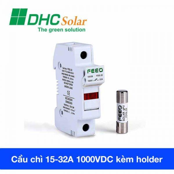 Cầu chì điện mặt trời 1000VDC 32A