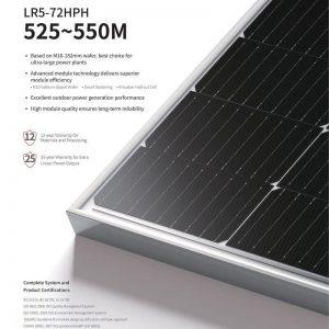 tấm pin năng lượng mặt trời longi 535wp