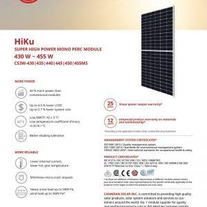 Tấm pin Canadian Solar 455W