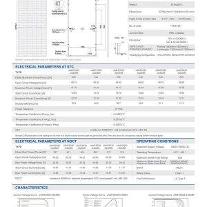 Datasheet JA 540w