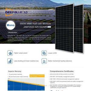 Pin JA Solar mới nhất